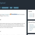 Free Blogger Templates Download: Hybrid Original