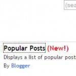 New Most Popular Posts Widget for Blogger
