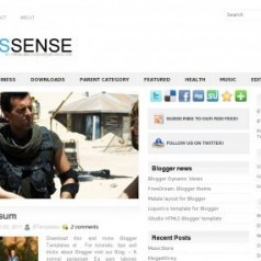 Free Blogger Template Download: NewsSense